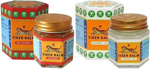 Tiger Balm 2 x 2 x Red /& Blanc 100/% dorigine 4 Pots 9 ML Prix Pur