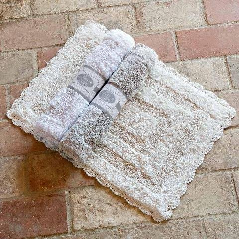 Tappeto Bagno 50x70 Blanc Mariclo' Grigio-bianco-ecrù