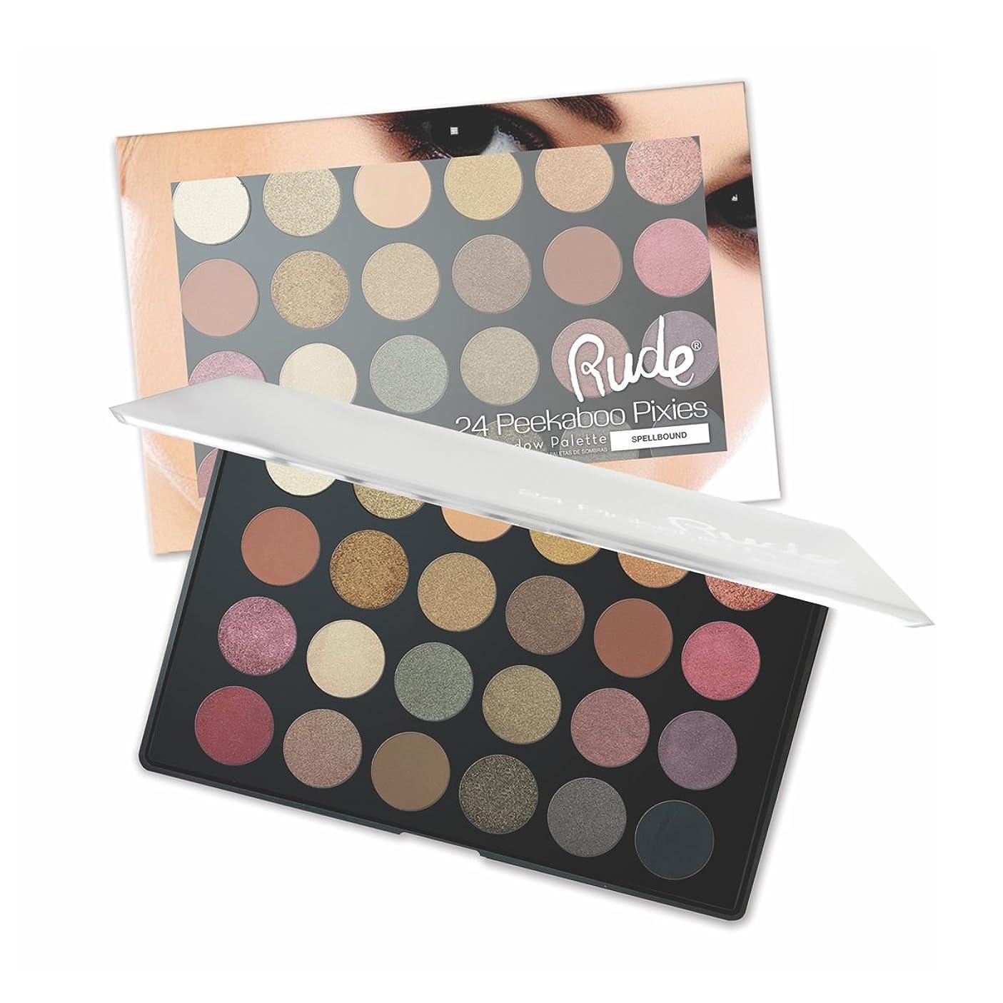 ジョットディボンドン直立小さな(3 Pack) RUDE Peekaboo Pixies 24 Eyeshadow Palette - Spellbound (並行輸入品)