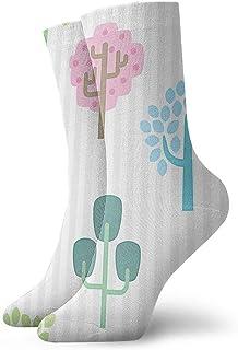 Cute Bi, Winter Trees Calcetines de compresión antideslizantes Calcetines deportivos acogedores de 11,8 pulgadas para hombres, mujeres y niños