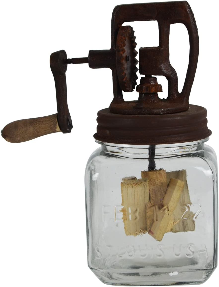 Dazey Treasure Gurus Rustic Antique Hand A surprise price is realized Glass Butte Crank Ranking TOP14 Style