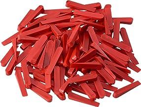 Meister Tegelwiggen 32 x 5 mm - praktische set met 250 stuks - van robuuste kunststof - rood/tegelaccessoires/tegelleghul...