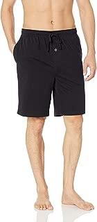 Mens Pajamas Pants Sleep Shorts Cotton Knit Pajama Shorts & Cotton Plaid Pajama Shorts Sleep Long Lounge Pants