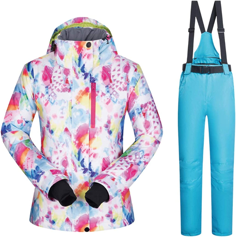 PUWENYCC Women's Ski Jacket High Windproof Waterproof Technology Snow Jacket