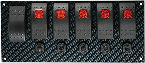 Moroso 74193 Gray/Black Fiber Design Switch Panel