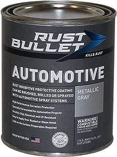 Rust Bullet RBA52 Automotive Rust Inhibitor Paint, 1 Pint Metal Can, Metallic Gray