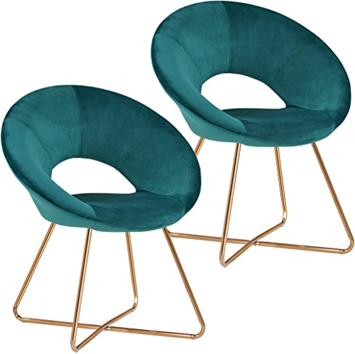 Duhome Modern Accent Velvet Chairs Dining Chairs Single Sofa Comfy Upholstered Arm Chair Living Room Furniture Mid-Ce...