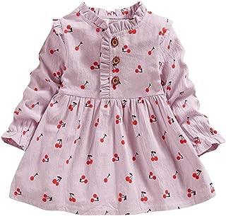 Little Girl Summer Dress,Sales Jchen Baby Kids Girls Sleeveless Rainbow Print Strap Party Princess Casual Dress for 0-3 Yrs