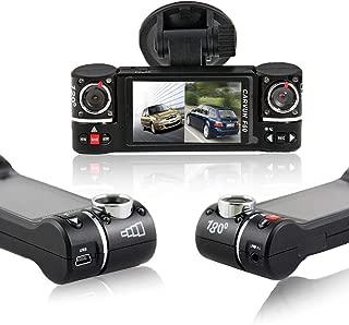 Máy thâu hình đặt trên xe ô tô – inDigi Dash Cam 2.7″ TFT LCD Dual Camera Rotated Lens Car DVR w/IR Night Vision – New