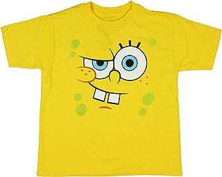 Spongebob Squarepants Boy's Curious Big Face Kids T-Shirt