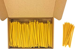 """500 Votprof 100% Pure Beeswax Taper Candles ( 6 1/4"""") Natural Honey Scent"""