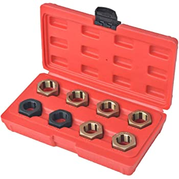 Leftwei Die Wrench Set Screw Thread Tap Die Set Accuracy Durability Bearing Steel Structure Industry for Mechanical Manufacturing Manual Threading Thread Processing