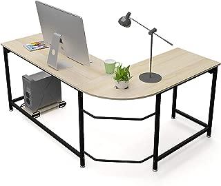 Teraves Modern L-Shaped Desk Corner Computer Desk Workstation Home Office Desk Study Writing Table