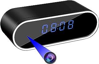隠しカメラ 2020最新型 置き時計型 小型カメラ スパイカメラ 遠隔操作 WiFi対応防犯監視カメラ 長時間録画 1080P高画質 動体検知 暗視撮影 遠隔操作 上書き録画 屋外/屋内用 ネットワークカメラ ミニ防犯カメラ