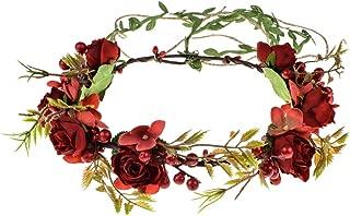 DreamLily Bohemian Halo Wedding Crown Maternity Flower Headpiece Birthday Photo PropsXM03