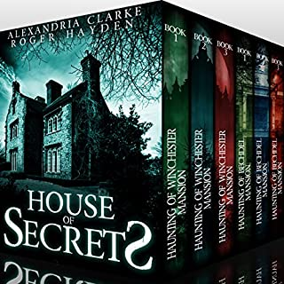 House of Secrets Super Boxset     A Collection of Riveting Haunted House Mysteries              By:                                                                                                                                 Alexandria Clarke,                                                                                        Roger Hayden                               Narrated by:                                                                                                                                 Tia Rider Sorensen                      Length: 25 hrs and 56 mins     31 ratings     Overall 4.1