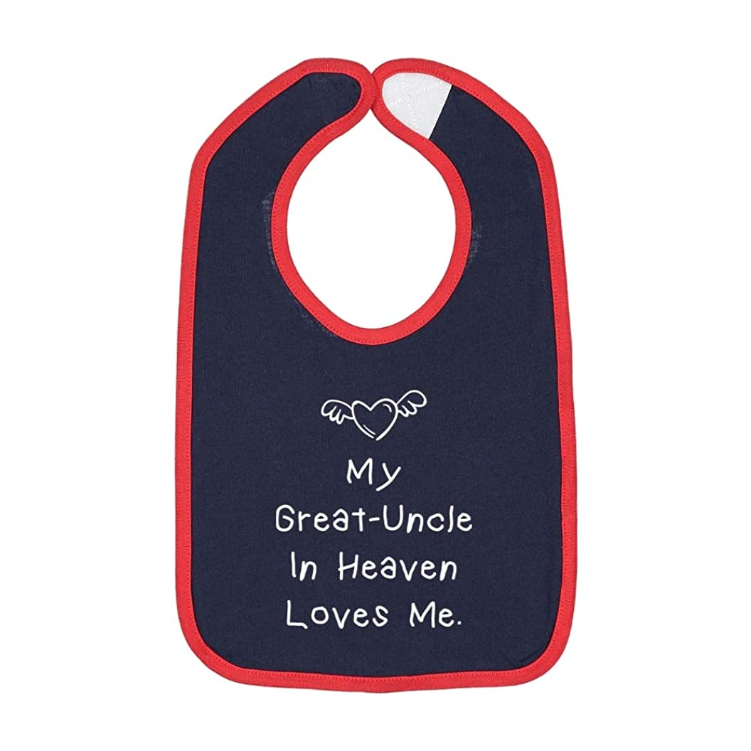 My Great-Uncle in Heaven Loves Me - Contrast Color Cotton Baby Bib nsqzdsbhubq21