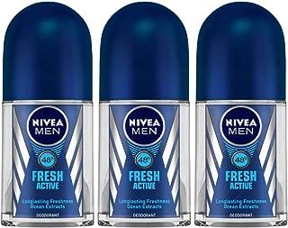 Nivea Men Fresh Active Roll On, 50ml (Pack of 3)