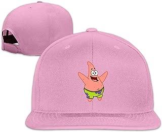 Mens Patrick Star Open Mouse A Flat-Brim Hats Adjustable Caps