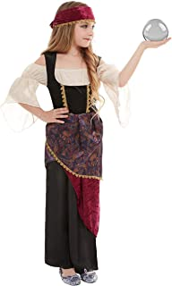 Smiffys 50786M Deluxe Fortune Teller Costume, Girls, Multi-Colour, M - Age 7-9 years