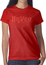 Hy-Vee Image Women's Short Sleeve Tee Shirt Cotton Printing Shirt Sports Summer Soft and Comfortable Round Neck Tops