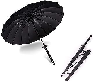 """We pay your sales tax 38\"""" Inch Tall Black Samurai Ninja Katana Umbrella Samurai Swords Umbrella Handle Creative Strong Wi..."""