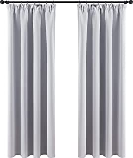 MIULEE 2 Panels Blackout Curtain Soft Solid Thermal Insulated Ring Top Decorative Darkening Curtain with Grommets And Hook...