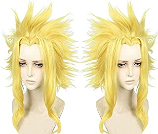 Shumeier My Hero Academia All Might Synthetic Cosplay Anime Hair Wig