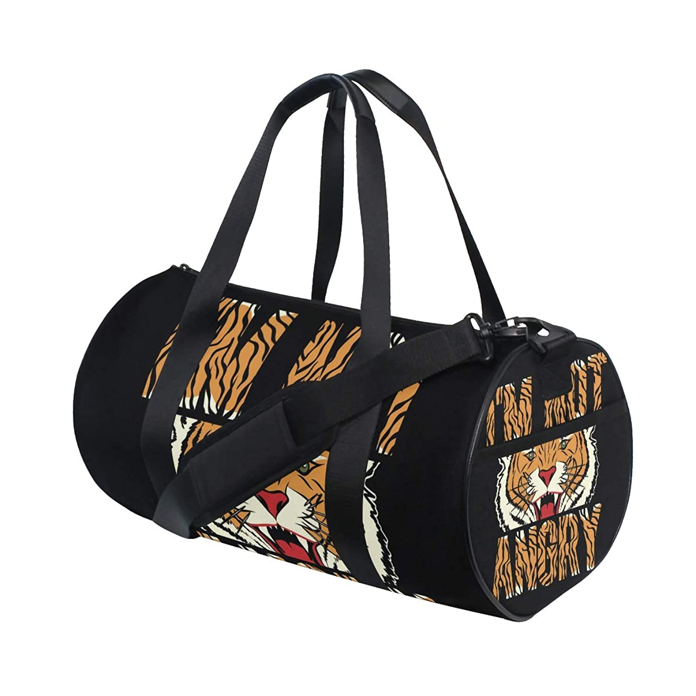 Gym Sports Dance Travel Duffel Bag Japanese Anger Tiger Luggage Bag for Weekender Sports Vacation