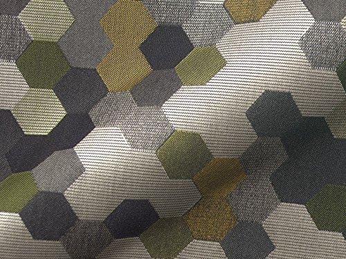 Raumausstatter.de Möbelstoff TOWNSVILLE 112 Muster Abstrakt Multicolor als robuster Bezugsstoff, Polsterstoff bunt Gemustert zum Nähen und Beziehen, Polyester, Polyacryl
