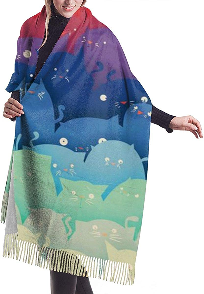 Luxurious Scarf Chunky Cashmere Pashmina Woman for Cape safety gift Shawl Gi