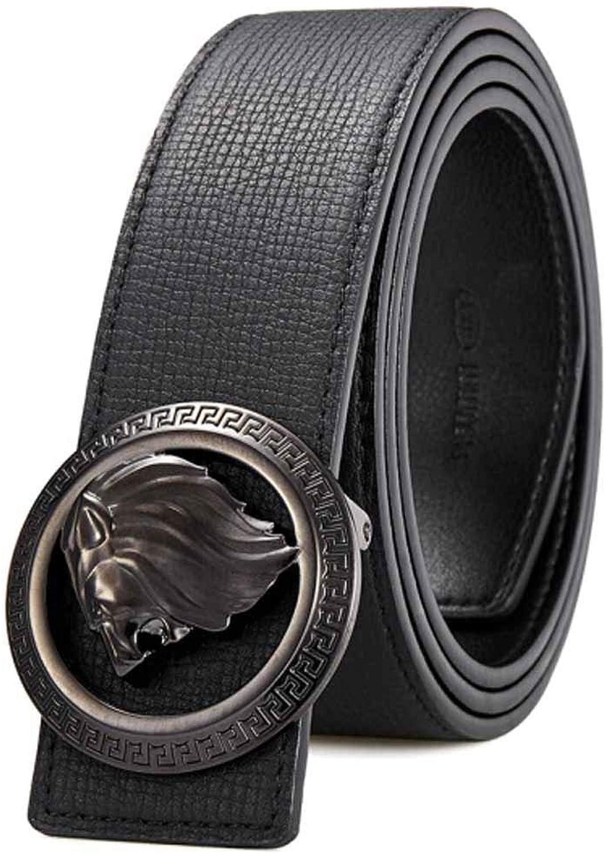 edición limitada en caliente Hengtongtongxun Cinturón Plateado Dorado, cinturón de Hebilla Lisa para Hombres, Hombres, Hombres, cinturón Casual de Negocios, Regalo del día del Padre ( Color   negro , Talla   105cm )  A la venta con descuento del 70%.