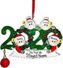 Christmas Tree Hanging Ornament, 2020 Personalised Christmas Tree Decorations Santa Claus Christmas Holiday Decorations Gi...