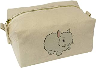'White Bunny' Canvas Wash Bag / Makeup Case (CS00018383)