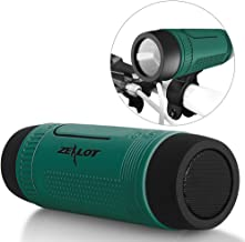 ZEALOT S1 Portable Multifunction Wireless Bluetooth Speaker, Support Mobile Power Bank, Microphone, Emergency Torchlight, FM Radio & TF Card Function for Outdoor Riding Climbing Camping(Green)