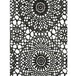 Klebefolie - Möbelfolie Spitzen Design schwarz - 45 cm x 200 cm Selbstklebende Folie mit Häkel Motiv - Dekorfolie