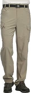 Men's Lightweight Hiking Pants Quick Dry Outdoor Cargo Pants with Partial Elastic Waist, YKK Zipper, 5 Pockets