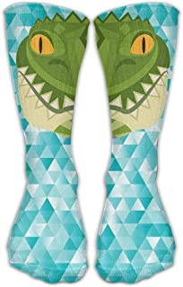 Bigtige, Hombres Mujeres Clásicos Calcetines de equipo Feroz Cocodrilo Cocodrilo Calcetines deportivos personalizados 50cm de largo-Toda la temporada