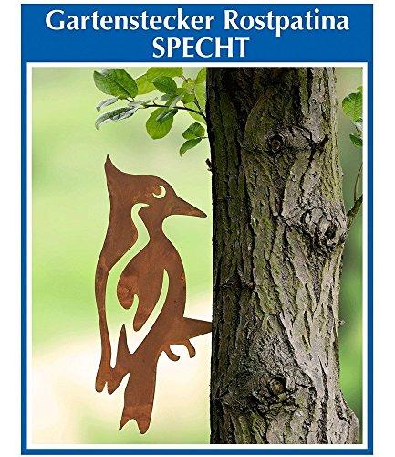 Wenko Gartenbaumdekoration Specht, Gartenstecker, Gartendeko, ca. 25,5 x 12,5 x 0,2 cm. Aus besonders robustem Schmiedeeisen