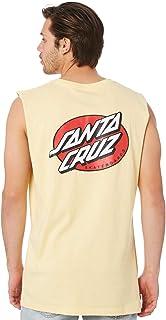 Santa Cruz Men's Oval Dot Mens Muscle Sleeveless Cotton Yellow