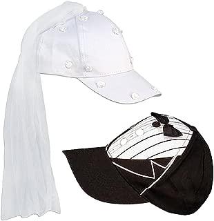 Adult Novelty Bride & Groom Wedding Cap Set