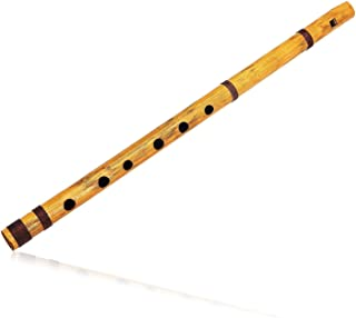 Unique Birthday Gift Ideas 17 inch Authentic Indian Wooden Bamboo Flute in 'G' Key Fipple Woodwind Musical Instrument Reco...