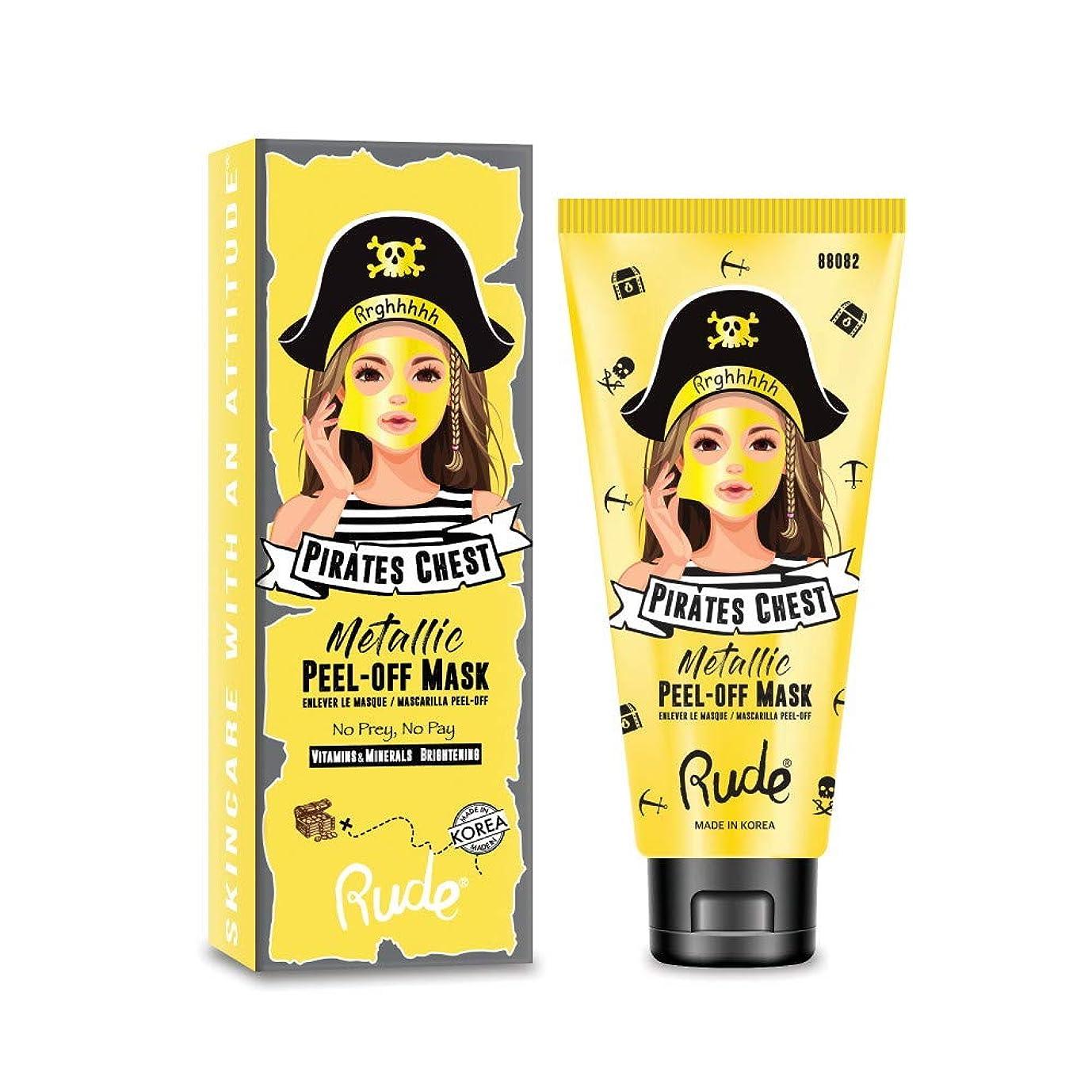 地中海水銀のグラス(6 Pack) RUDE Pirate's Chest Metallic Peel-off Mask - No Prey, No Pay (並行輸入品)