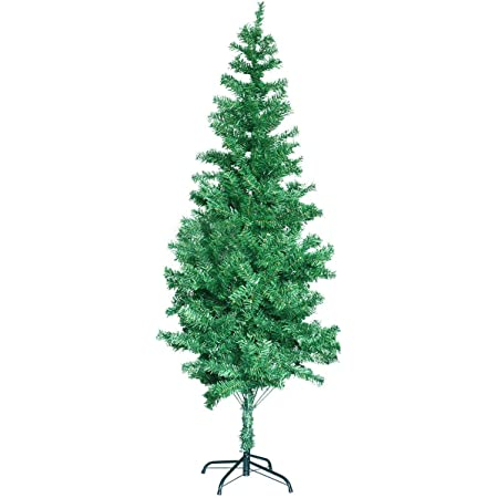 Gift Hunter PVC Artificial Christmas Tree with Multi-Color LED Lights and Decorations - 5.9 Feet, Green