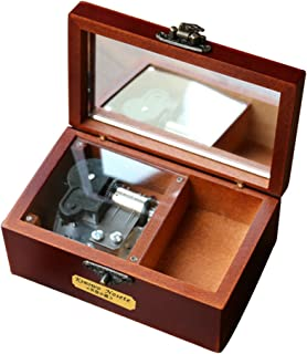 YouTang(TM) Retro Wooden 18-note Wind-up Musical Box Designed with Leather,Musical Toys,Tune:You are my Sunshine