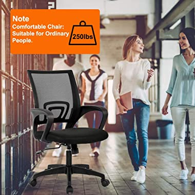 Home Office Chair Ergonomic Desk Chair Mesh Computer Chair with Lumbar Support Armrest Executive Rolling Swivel Adjustable Mi