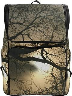 Travel Backpack Night Moon Forest Tree School Backpack for Men Big Backpacking Bookbag