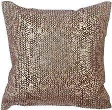 Handmade Gold DecorativeToss Cushions 40x40 cm, Burlap Throw Pillow Cushion Covers, Circles & Dots, Dotted, Sequins Embel...
