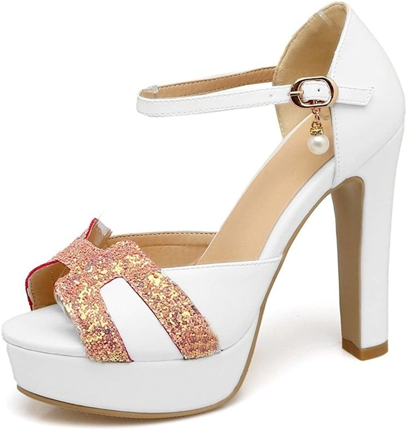 In The Summer, high Heels and Pearl Clasp Large Code Nightclub Sandals