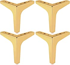 Triangle Diamond Furniture Feet, 4pcs Metal Furniture Legs, Replacement Cabinet Feet for Cabinet, Sofa, Chair, Coffee Tabl...